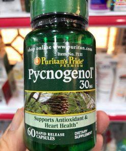 Chong oxy hoa tu nhua cay thong do Puritans Pride Pycnogenol 30 mg 60 vien 6320