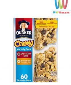 banh-bo-dau-phong-socola-quaker-chewy-granola-bar-variety-pack-144kg