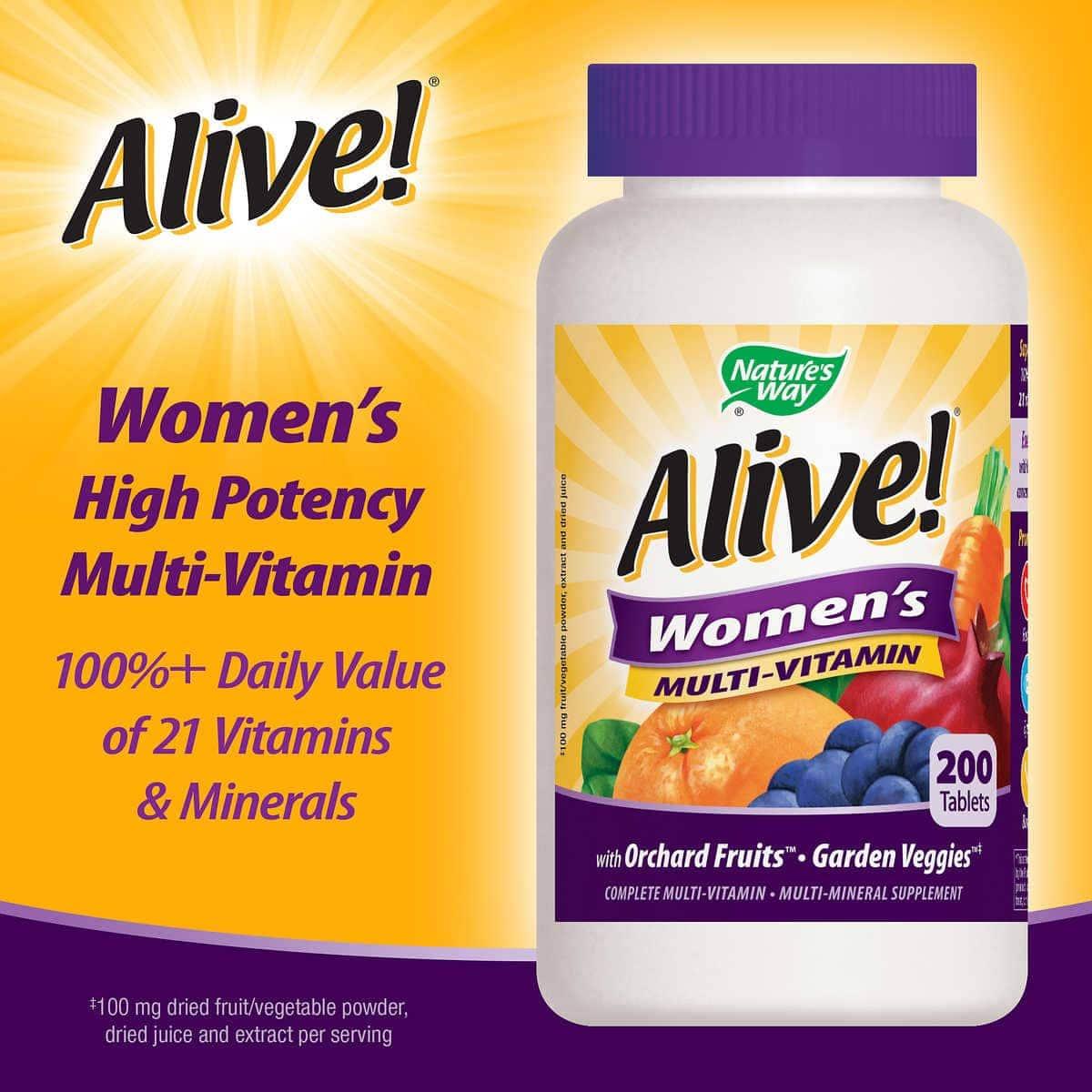 Viên uống bổ sung vitamin cho phụ nữ Alive! Women's Multivitamin 200 viên