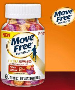 Kẹo dẻo hỗ trợ xương khớp từ Schiff Move Free Ultra Triple Action 60 viên