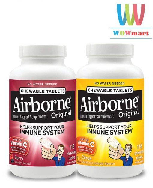 keo-ngam-bo-sung-vitamin-va-khoang-chat-tu-airborne-immune-support-supplement-116v