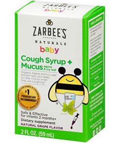 Siro trị ho, long đờm hương nho cho trẻ Zarbee's Baby Cough Syrup + Mucus 59ml