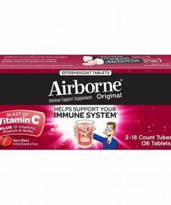 Viên sủi C Airborne Immune Support Vitamin C 1000mg 36 viên