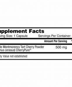 Viên uống chống oxy hóa từ trái Cherry Nature's Lab CherryPURE Tart Cherry 500mg 180 viên