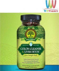 Viên uống giải độc gan từ Well Roots Colon Cleanse & Liver Detox 120 viên