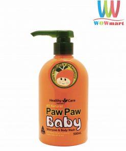 goi-tam-2-trong-1-cho-tre-em-healthy-care-paw-paw-baby-shampoo-body-wash-500ml