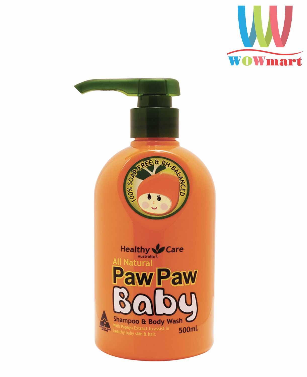 goi-tam-2-trong-1-cho-tre-em-healthy-care-paw-paw-baby-shampoo-body-wash-500ml