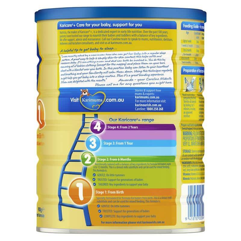 Sữa dê Karicare số 1 cho trẻ sơ sinh Karicare Goat Milk Formula Step 1 (  0-6 moths) 900g - Wowmart VN | 100% hàng ngoại nhập