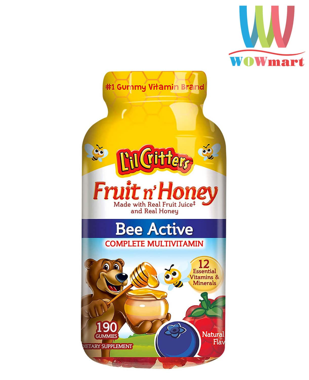 keo-bo-lil-critters-fruit-n-honey-bee-active-multivitamin-190-vien