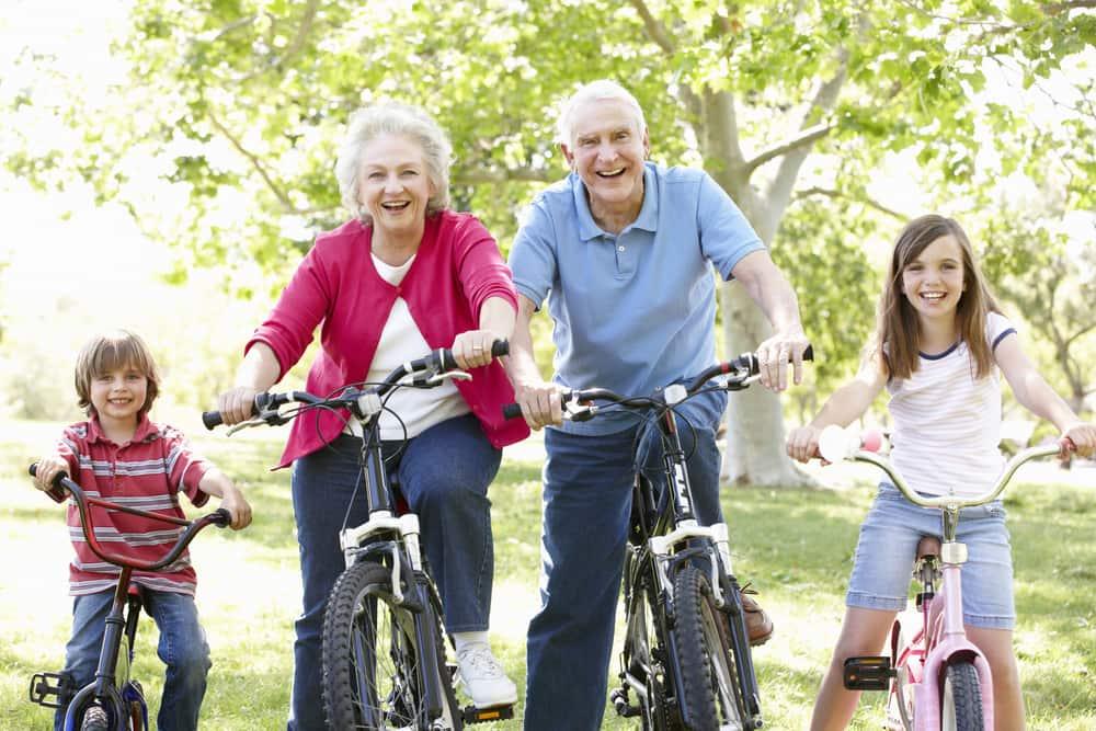old people biking
