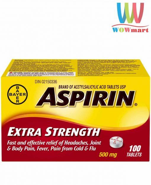 thuoc-giam-dau-bayer-aspirin-extra-strength-500-mg-100-vien