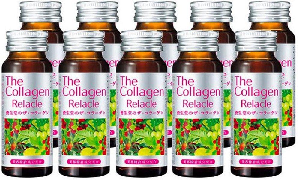 Bổ sung Collagen dạng nước từ Nhật Bản The Collagen Relacle 50ml hộp 10 chai