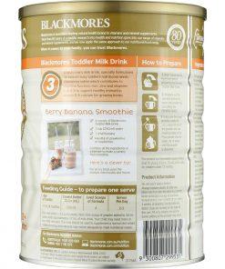 Sữa bột Blackmores cho trẻ từ 1 tuổi trở lên Blackmores Toddler Milk Drink Stage 3 900g