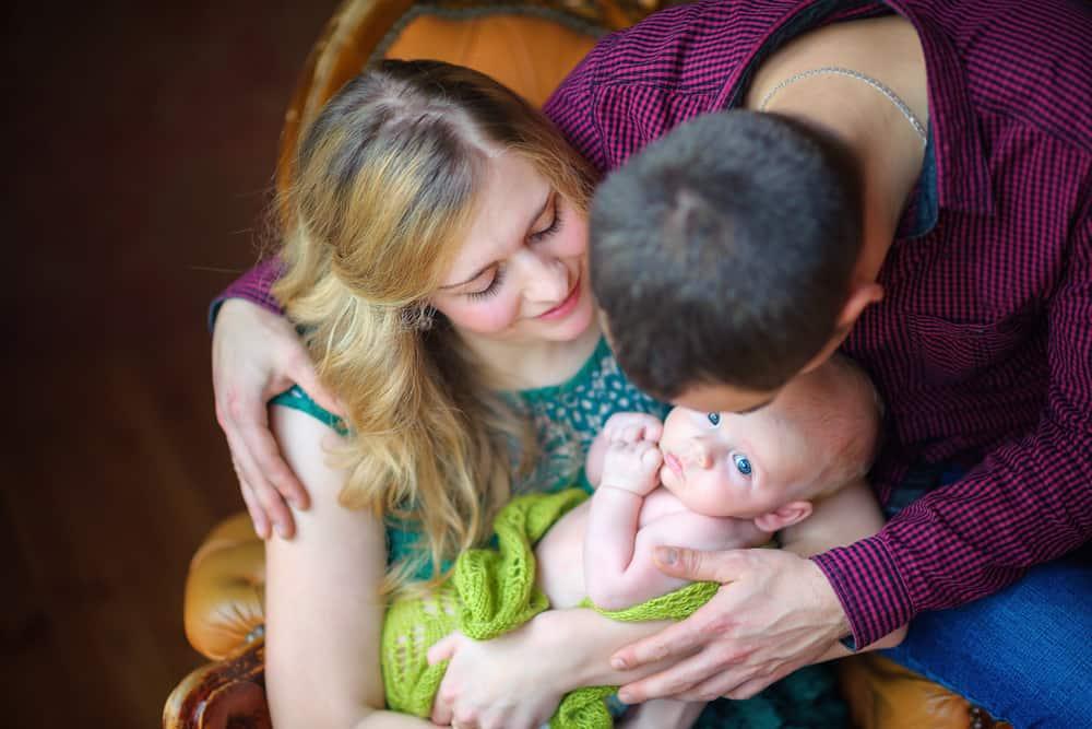 happy family newborn