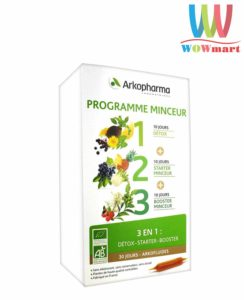 thai-doc-giam-can-3-tac-dung-arkopharma-programme-detox-triple-action-30-ong