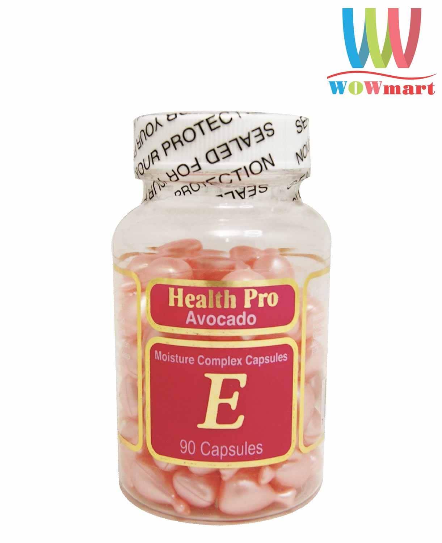 vien-nang-dau-duong-vitamin-e-giup-dep-da-tu-trai-bo-health-pro-avocado-vitamin-e-90-vien