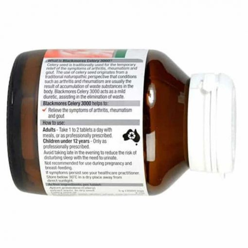 Viên uống phòng ngừa và điều trị bệnh Gout Blackmores Celery 3000mg 50 viên