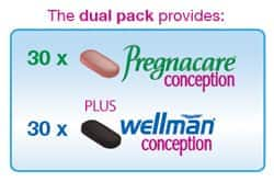 vitabiotics pregnacare his her conception 4