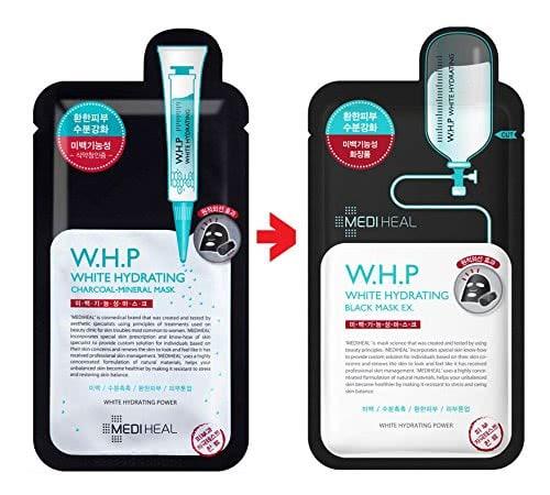 Mặt nạ W.H.P white Hydrating black Mask EX Mediheal hộp 10 miếng