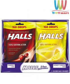 keo-halls-tri-ho-thong-co-mat-lanh-halls-triple-soothing-action-160-vien
