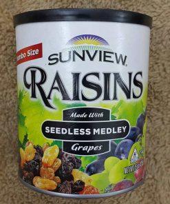 Nho khô Mỹ không hạt Sunview Raisins Jumbo Size 425g