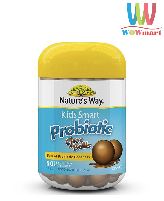 keo-loi-khuan-cho-tre-huong-socola-natures-way-kids-probiotic-choc-balls-50-vien
