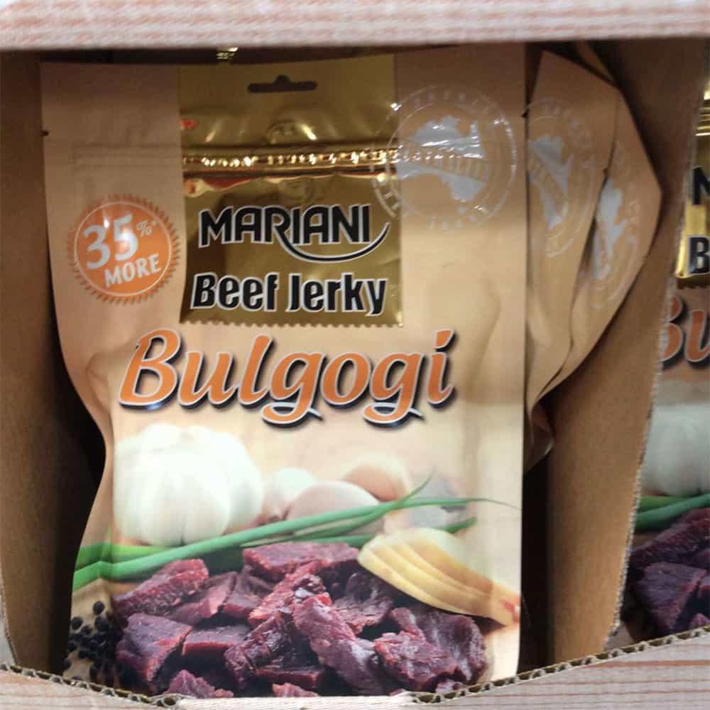 Khô bò Úc vị BBQ Hàn Quốc Bulgogi Mariani Beef Jerky Gói 350g