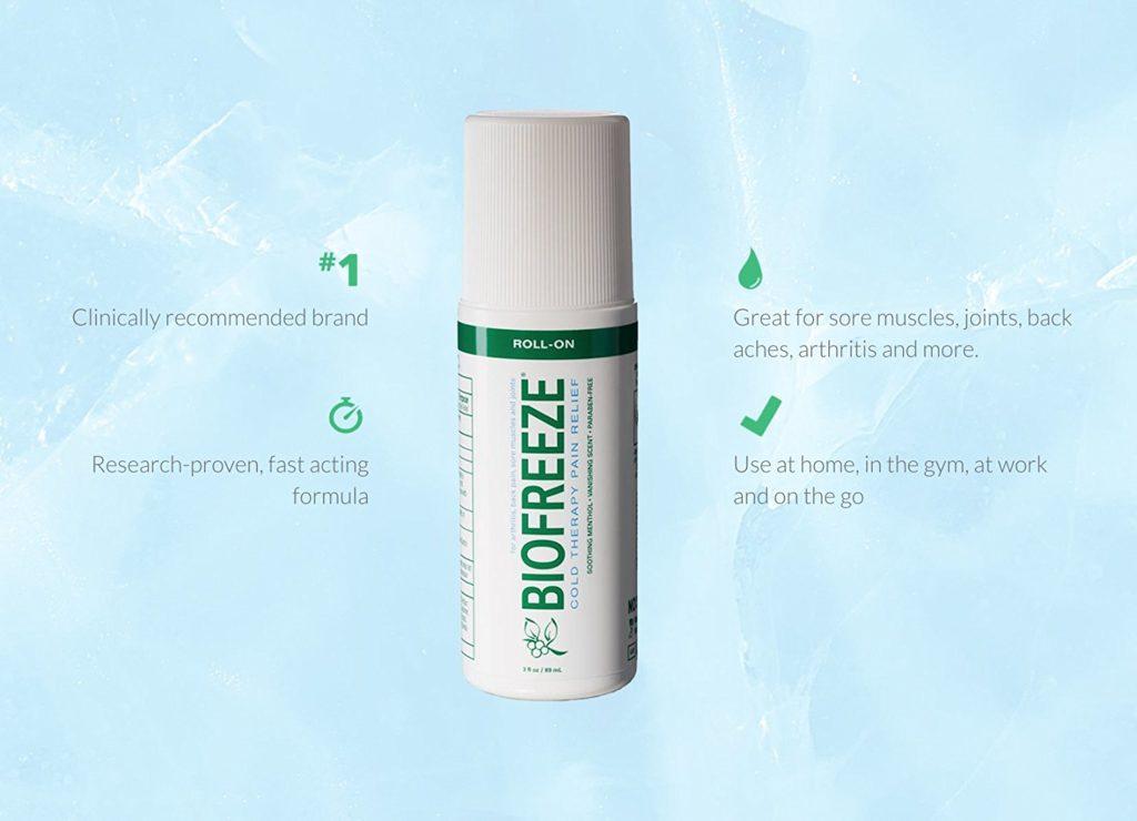 Dầu thuốc xoa bóp giảm nhanh các cơn đau khớp Biofreeze Roll On 74ml