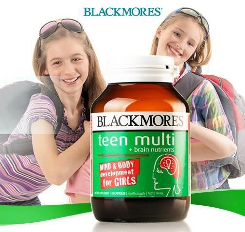 Viên uống bổ não, tăng cường trí nhớ cho bé gái Blackmores Teen Multi for Girls 60 viên