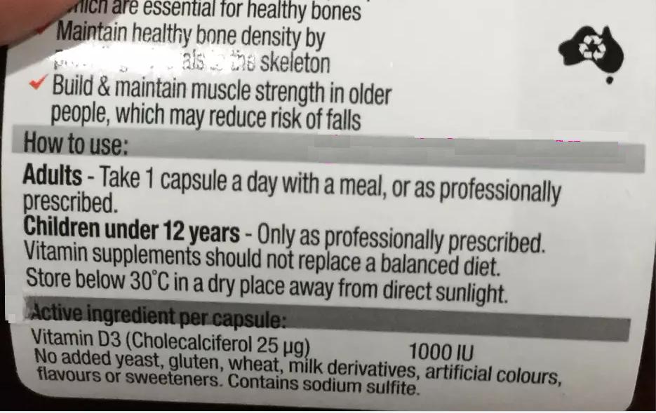 Viên uống bổ sung vitamin D3 Blackmores giúp xương chắc khỏe từ Úc Blackmores Vitamin D3 1000IU 200 viên