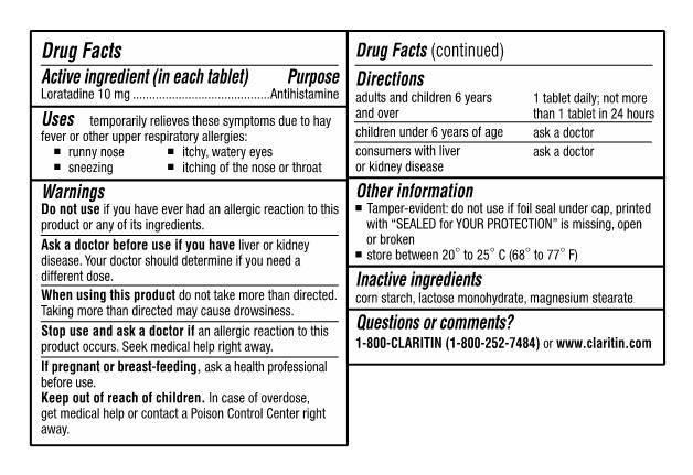Thuốc trị cảm cúm, sổ mũi Claritin Antihistamine Non-Drowsy Loratadine 10 mg 70 viên
