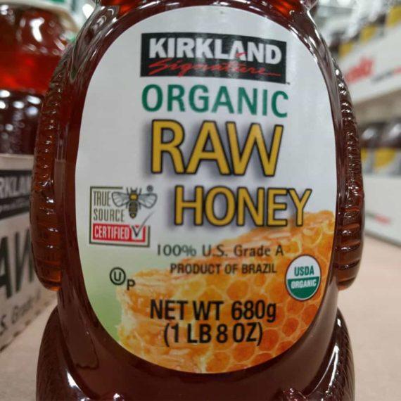 Mật ong Kirkland con gấu Kirkland Signature Raw Organic Honey Bear 680g