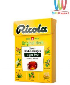 Kẹo ngậm thảo dược thông cổ Ricola không đường Ricola Original Swiss Herb Lozenges Sugar Free 40g