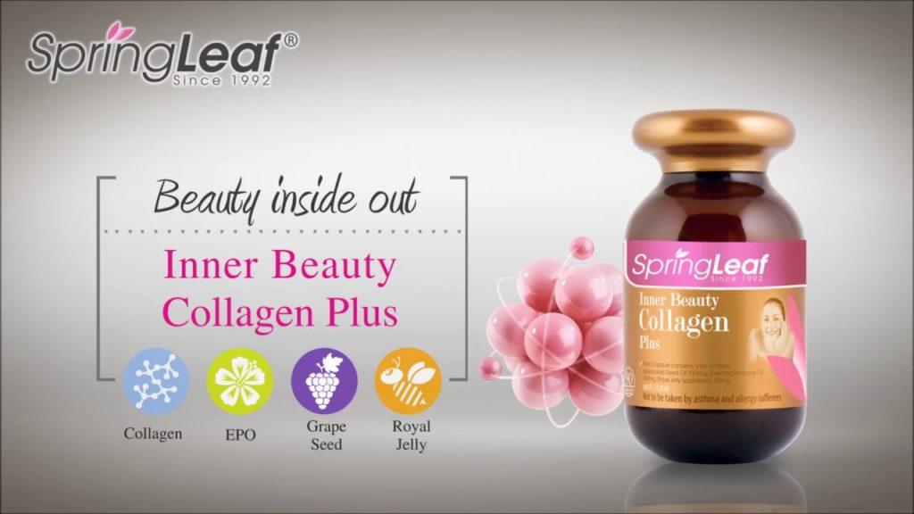 Viên uống bổ sung collagen Spring Leaf Inner Beauty Collagen Plus 90 viên