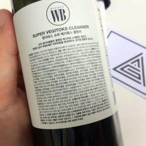 Sữa rửa mặt thải độc rau củ Super Vegitoks Cleanser Hàn Quốc 300ml