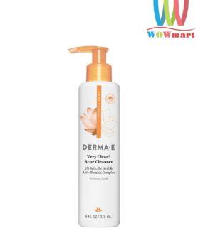 sua-rua-mat-tri-mun-derma-e-clear-acne-cleanser-175ml