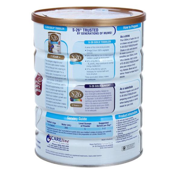 Sữa bột dành cho trẻ từ 1 - 3 tuổi S-26 Gold Toddled 3 900g