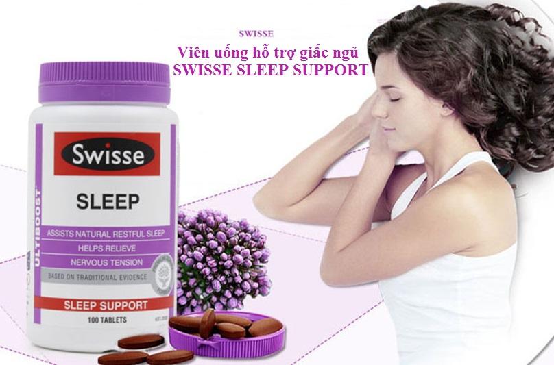Thuốc hỗ trợ giấc ngủ Swiss Sleep Support 100 viên