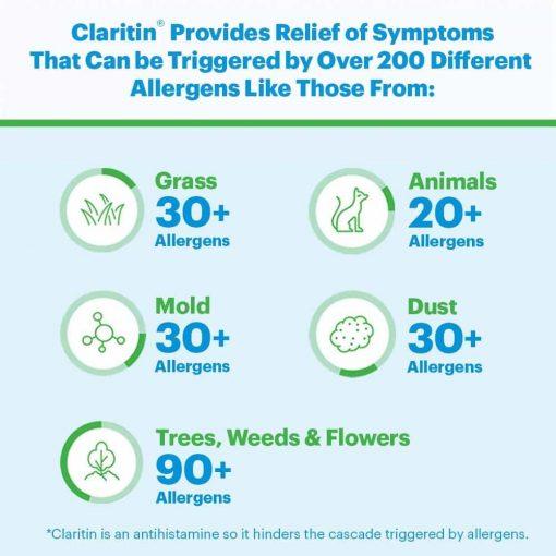 Thuốc trị cảm cúm, sổ mũi Claritin Antihistamine Non-Drowsy Loratadine 10mg 70 viên