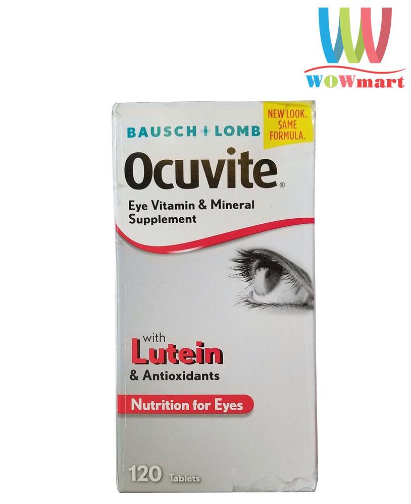 Thuốc bổ mắt Ocuvite Bausch+Lomb with Lutein & Antioxidants 120 viên