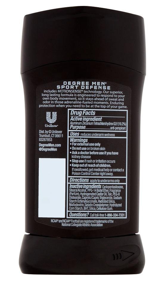 Lăn khử mùi thể thao Degree Men MotionSense Sport Defense Antiperspirant & Deodorant 76g