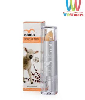 Son dưỡng môi nhau thai cừu Rebirth Lanolin Lip Balm 3.7g