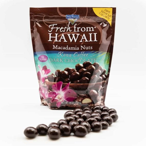 Socola mắc ca MacFarms Kona Coffee Dark Chocolate Macadamia 794g