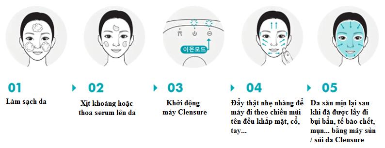 Máy sủi da chuyên nghiệp Clensure Professional Shining System Up Hàn Quốc