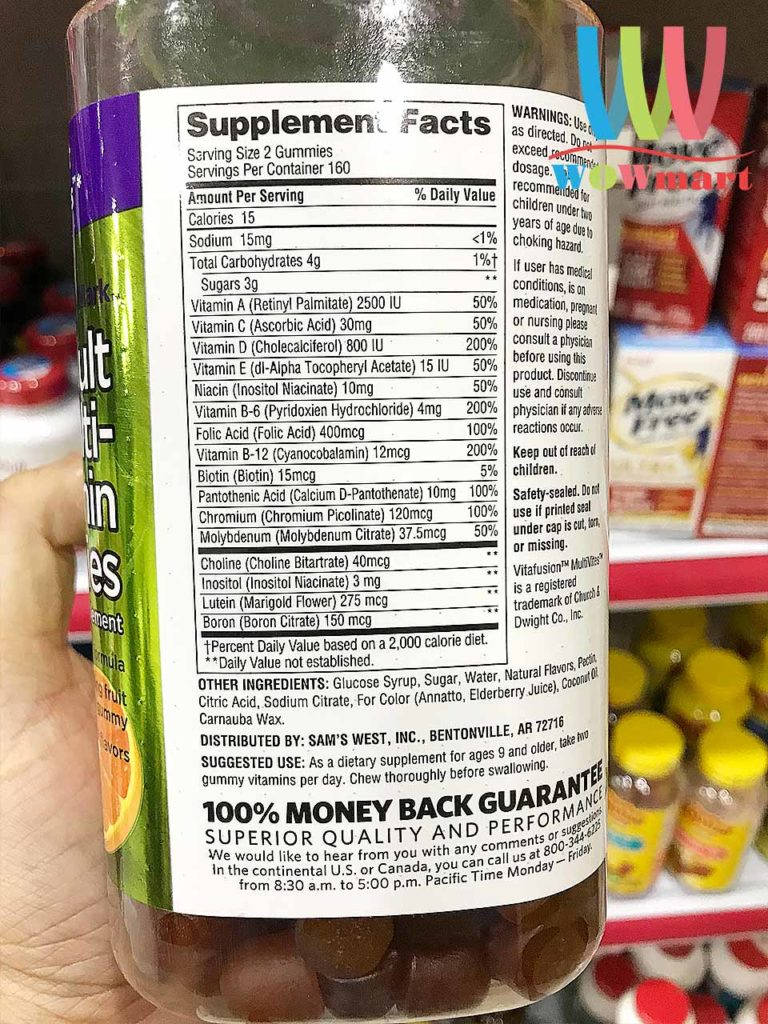 Kẹo bổ sung đa Vitamin cho người lớn Member's Mark Adult Multivitamin 320 Gummies