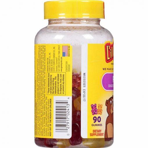 Kẹo dẻo bổ sung chất xơ cho bé L'il Critters Fiber 90 Bear Gummies