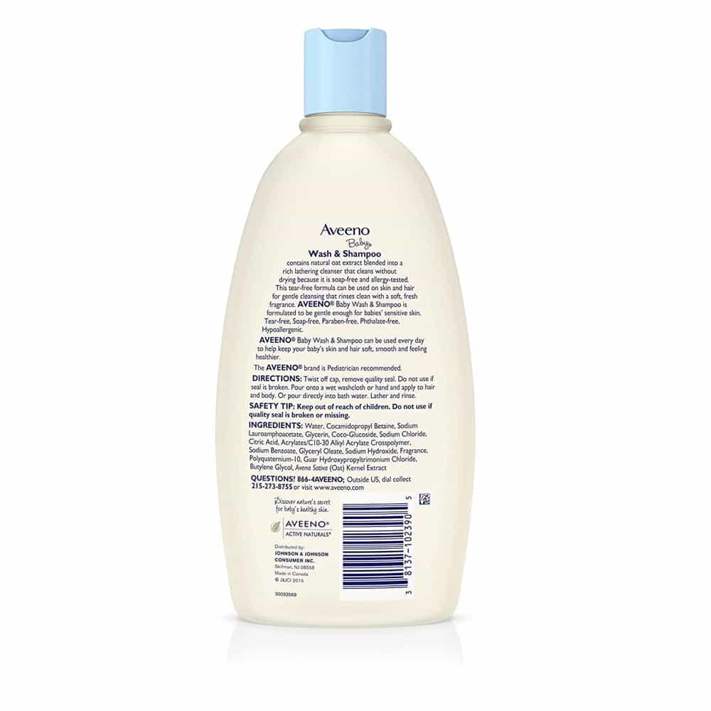Sữa tắm gội cho bé Aveeno Baby Wash & Shampoo 532ml