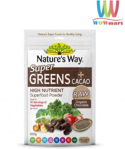 Bột-rau-củ-quả-ca-cao-Nature's-Way-Super-Greens+Cacao-100g