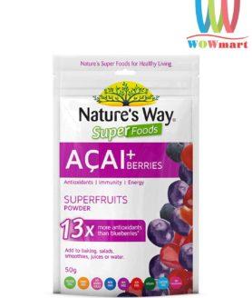 bot-trai-cay-chiet-xuat-tu-qua-acai-natures-way-super-foods-acai-berries-50g