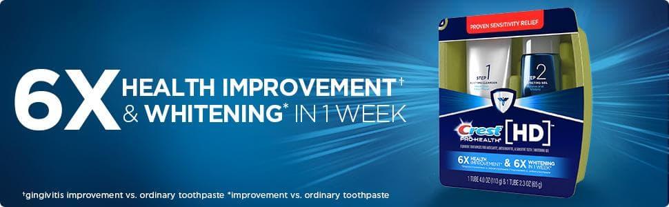 Set 2 bước trắng răng cùng kem đánh răng Crest Pro Health HD Daily Two Step Toothpaste System